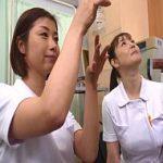 不妊治療の検査のための精液をWフェラで採取する熟女ナースたち