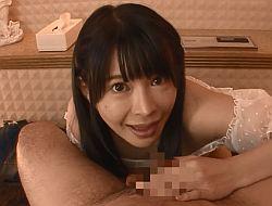 ジュルジュルフェラと乳首舐め手コキで連続射精をさせる高嶋めいみ